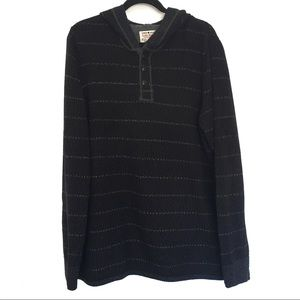 [LUCKYBRAND] 100% Cotton hoodie knit sweater L